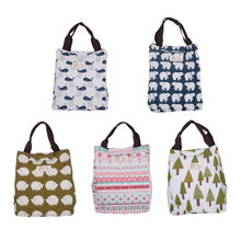 font b Lunch b font Box Hedgehog Whale Bear Pattern Portable Insulated Thermal Cooler Food