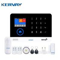 Kervay 3G WIFI RFID GSM Home Security System Alarmowy Z EN RU ES PL DE Przełączane Panel Dotykowy APP Pilot alarmu host