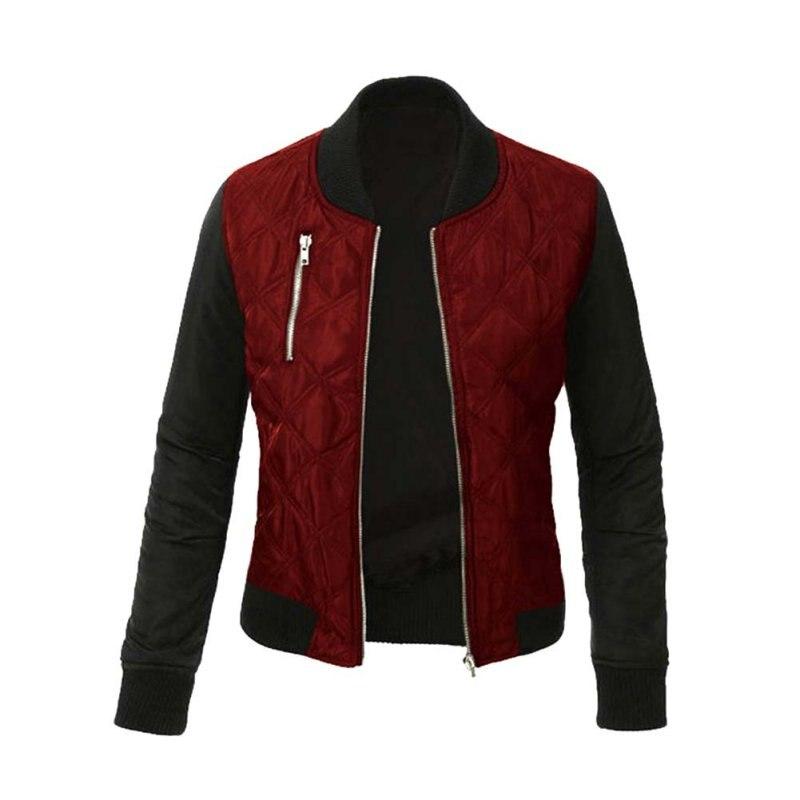 Зима Весна Модная куртка Для женщин Bomber Coat короткий тонкий слой VESTE военный женские куртки ...