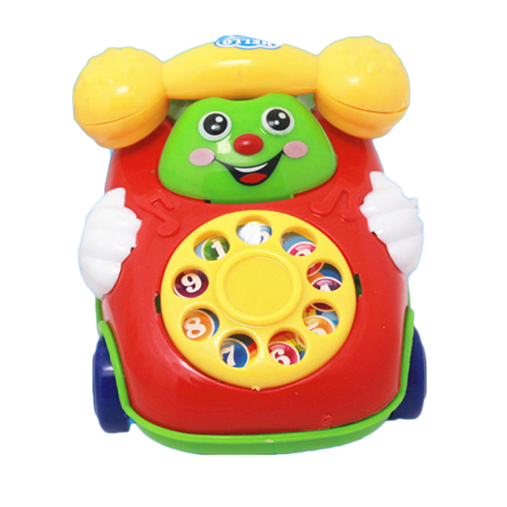 Cute Mini Flashing Toy Phone Educational Simulated Music Phone Toy Baby Girls Play House Pretend Play Toy Car Smiling Face Phone