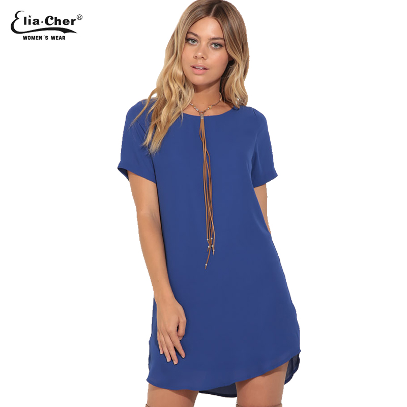 Summer dress 2017 mujeres dress eliacher brand plus tamaño ropa casual femenina
