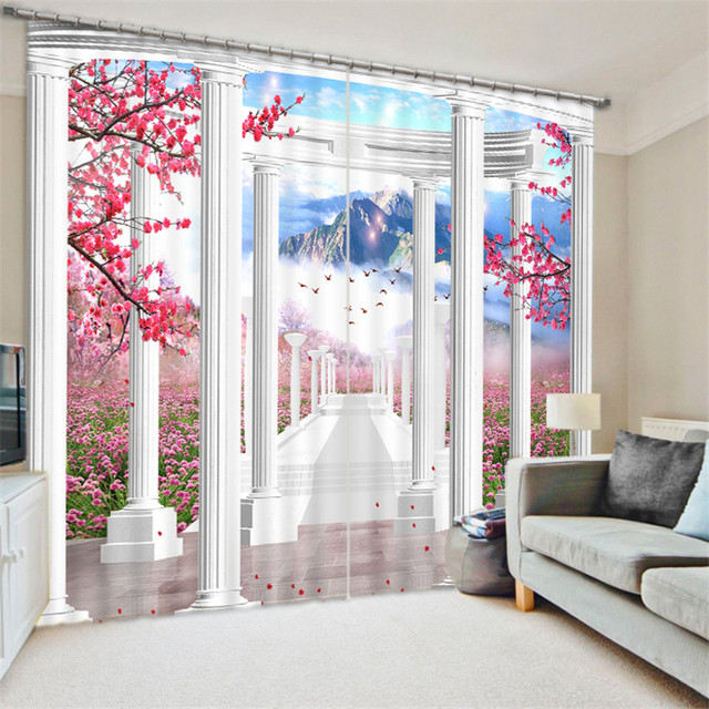 Beautiful wonderland 3D Blackout Window Curtains For Living room Bedding room Home Decor Tapestry Wall Carpet Drapes Cotinas