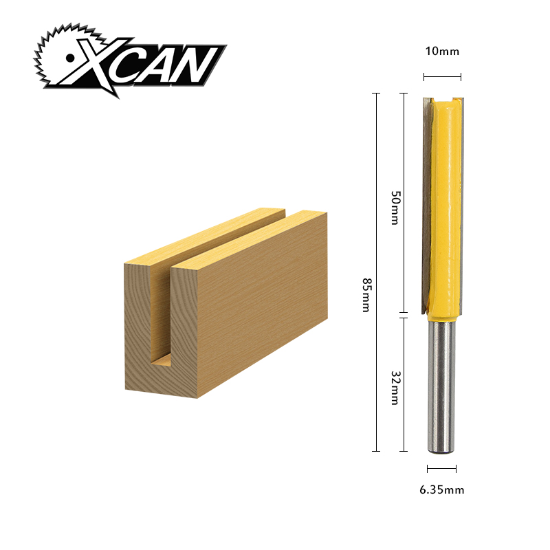 1pc router bit 1/4 shank /handle lengthened Straight Knife Flush Trim Pattern Router Bit knife for wood