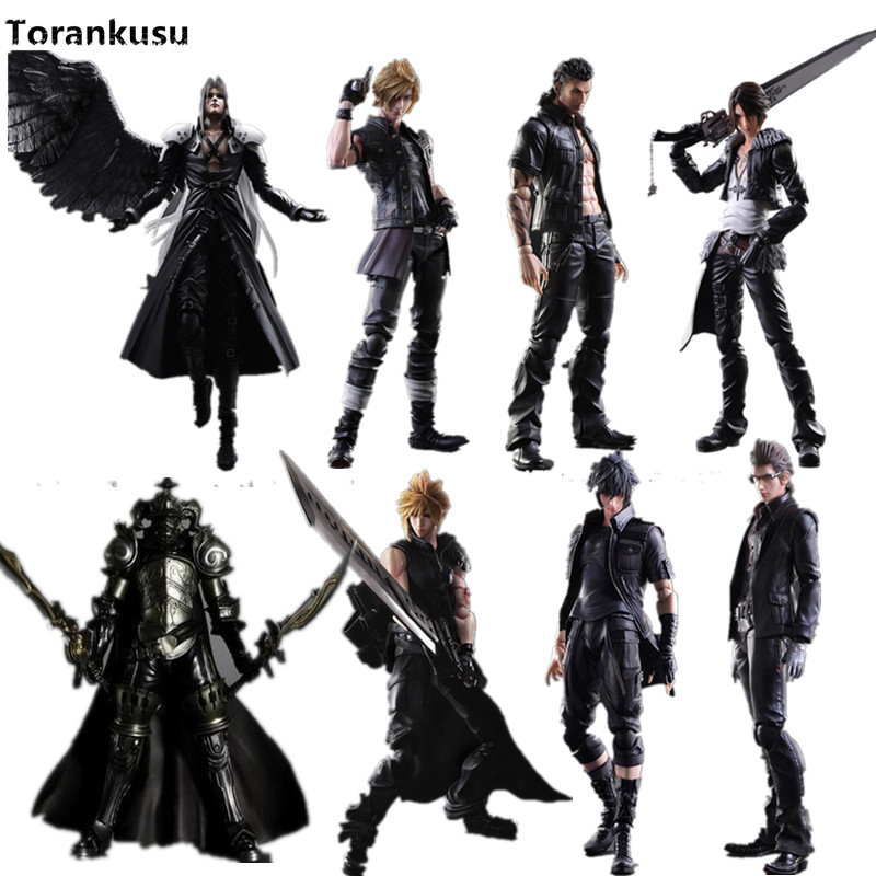 Final Fantasy Play Arts Kai Action Figure 250mm Cloud Sephiroth Squall PVC Anime Toy Collection Model Figurine Play Arts Kai xv vii ff15 sephiroth ffxv final fantasy pa claude knight argentum play arts kai cloud strife collection model pvc 25cm figures