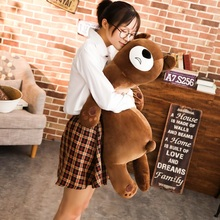 60/80 Cm Soft Sleeping Bear Plush Toy Stuffed Animal Teddy Pillow Toys For Children Home Decoration Decent Bed