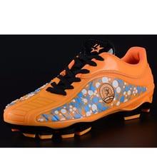 New Football Boots Soccer Game Sneakers Men Boy Soccer Cleats Damping AG Football Shoes Size 33-44 botas de futbol con tobillera