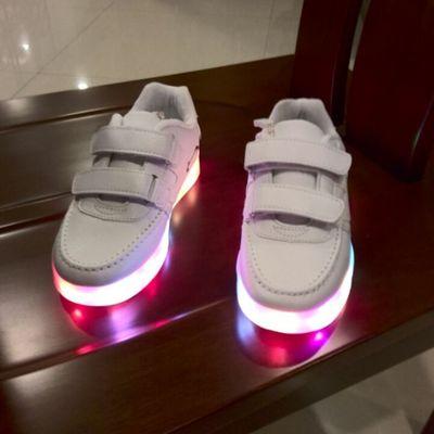 children's shoes LED charging light emitting luminous colorful shoes Boys Girls flash sports shoes