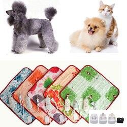 Manta eléctrica de felpa para mascotas animales cama calentador estera calefacción buen gato perro cama cuerpo invierno alfombra caliente almohadilla de calor eléctrica