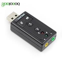 7,1 Внешняя USB звуковая карта USB к разъему 3,5 мм аудио адаптер для наушников Micphone Звуковая карта для Mac Win Compter Android Linux