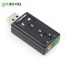 7.1 External USB Sound Card USB to Jack 3.5mm Headphone Audio Adapter Micphone Sound Card For Mac Win Compter Android Linux(China)