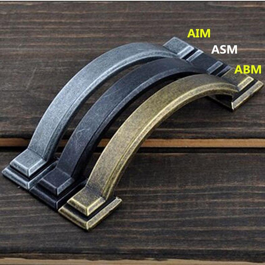 76mm rustico retro  furniture handles antique iron drawer cabinet pull knob black antique brass / bronze dresser  door handle 3 салатник rustico малый 1179930