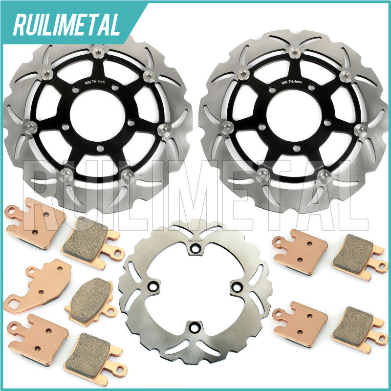 Front Rear Brake Discs Rotors Pads Set for KAWASAKI ZX6RR ZX-600 2003 2004 03 04 ZX 6R 636 ZX-6R ZX6R ZX-6RR ZX600 ZX636 NINJA brake shoe pads set fit for kawasaki zx6r zx 6r zx600 zx 6r 600 zx600 p7f p8f 2007 2008 zx 600 r9f 2009 2010 2011 2012