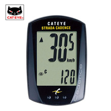 CATEYE Cycling Bike Speedview STRADA CADENCE CC-RD200 Wired GPS Cycling Bike Computer Speedometer Sets With 9 Functions Black