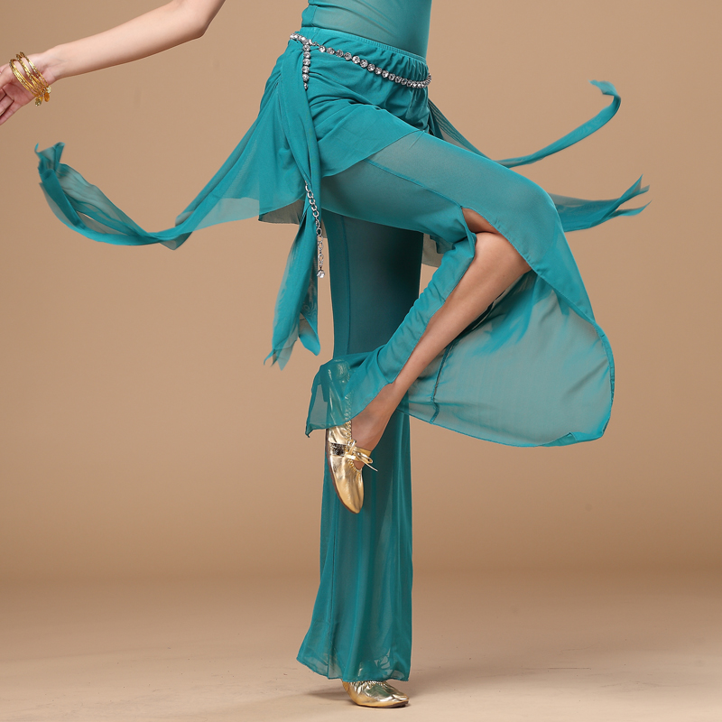 11 Colors Wholesale Belly Dance Trousers+waist Scarf 2pcs Belly Dance Pants Women Belly Dance Practice Trousers
