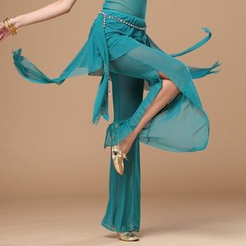 11 colors Wholesale belly dance trousers+waist scarf 2pcs pants women Practice trousers - discount item  12% OFF Stage & Dance Wear