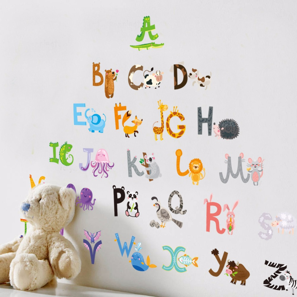 2017 baby gift removable cheap children bedroom decor alphabet 2017 baby gift removable cheap children bedroom decor alphabet wall stickers for kids adhesive nursery wall decals wall poster in wall stickers from home amipublicfo Images