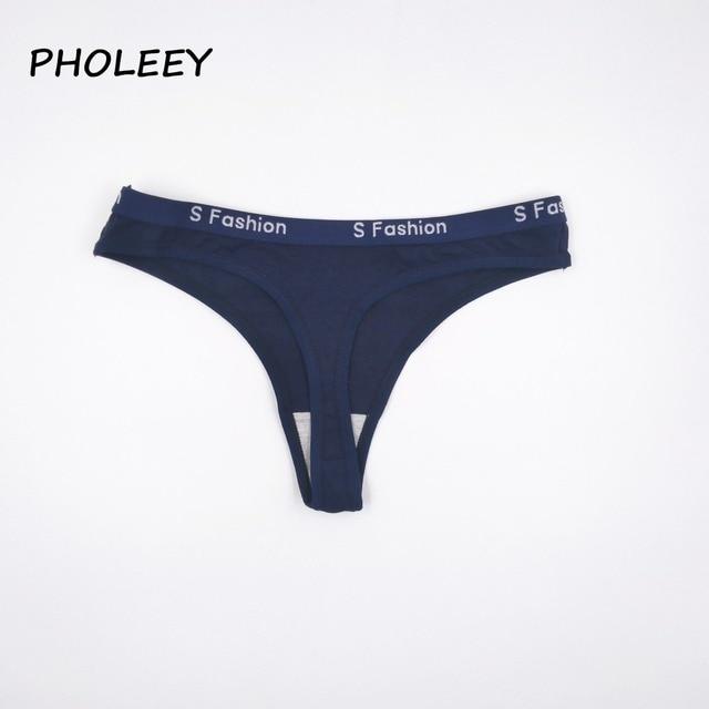 21f2dc2bb Pholeey 2017 Novo estilo Sexy Mulheres G Cordas Tangas Calcinhas de Cintura  Baixa Calcinha Sexy roupa