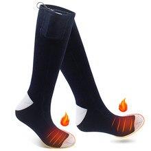 3.7 В зима Электрический Аккумуляторная батарея с подогревом Носки комплект для Пеший Туризм хронически холодные ноги