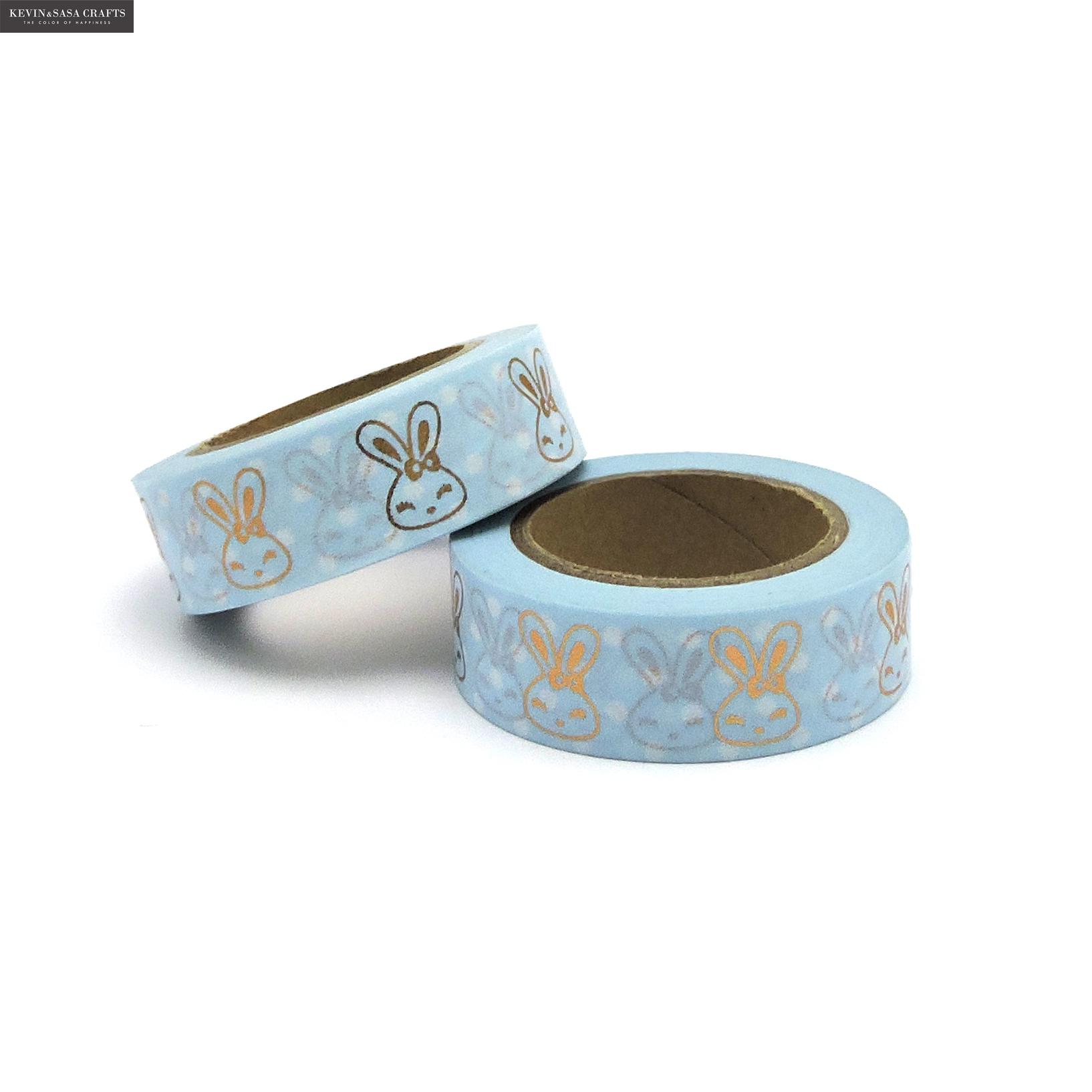 Rabbit Washi Tape Gold Foil Tape Stationery Decorative Tape Scrapbooking Photo Album School Tools Kawaii Scrapbook Paper