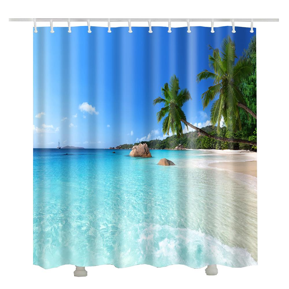 New Arrival Window Beach Shower Curtain
