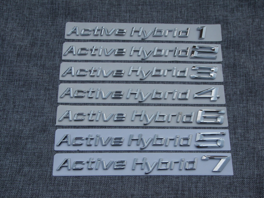 Chrome ABS Plastic Car Trunk Rear Sides Letters Badge Badges Emblem Emblems for BMW Active Hybrid 1 2 3 4 5 6 7 8