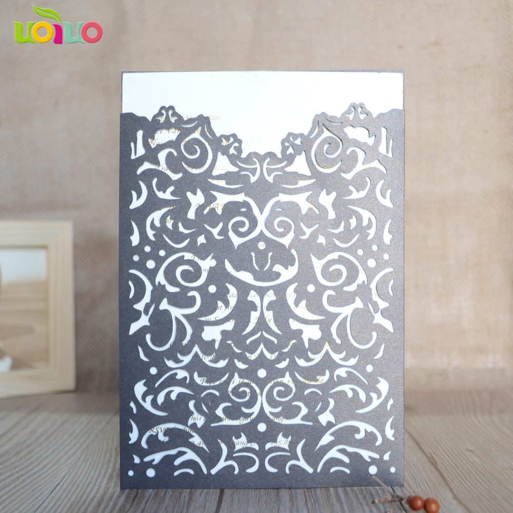laser cut 3d wedding invitation card 10pcs luxurious bengali wedding invitations with free name logo-in Cards & Invitations from Home & Garden on ...