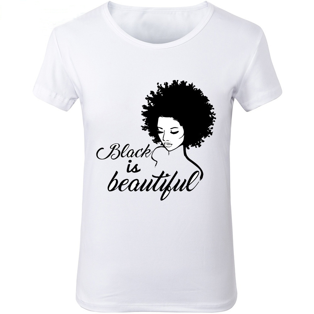 a8cd4f41 New Women Black Girl Magic T Shirts Black IS Beautiful Graphic ...