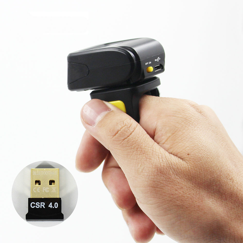 MINI Wireless Barcode Scanner Bluetooth 1D Bar Code Reader Support Android iOS iPad Windows in Scanners from Computer Office