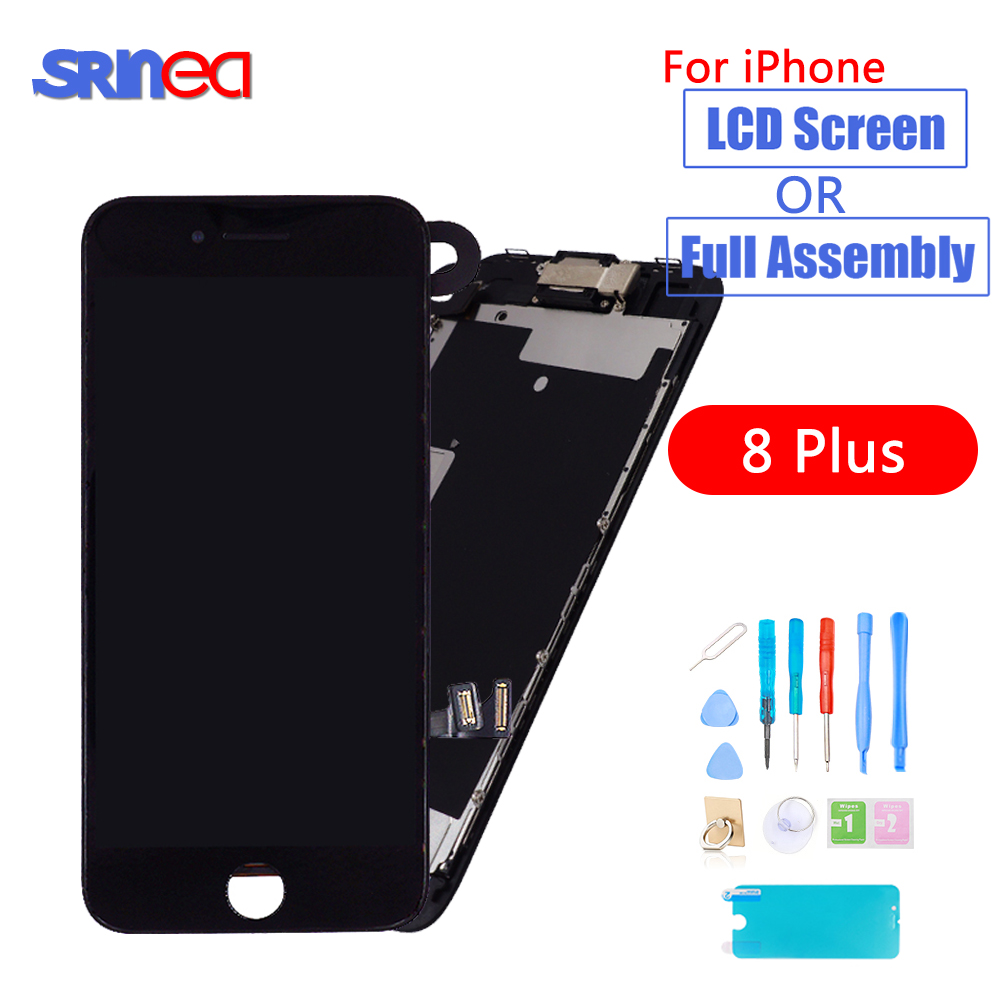 AAAA OEM LCD For IPhone 8 Plus 8P A1864 A1897 A1898 8Plus LCD Display 3D Touch Full Set Digitizer Assembly Replacement Screen
