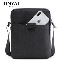 TINYAT светлые холщовые мужские сумки на плечо для 7,9 'Ipad Повседневная сумка через плечо Водонепроницаемая деловая сумка на плечо для мужчин 0,13...