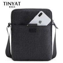 TINYAT Light Canvas Men's Shoulder Bag For 7.9' Ipad Casual