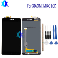 For Xiaomi Mi4C LCD Display Touch Screen Panel Digital Replacement Parts Assembly Original 5 0inch 1920x1080P