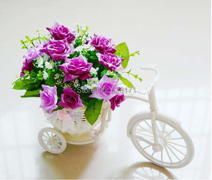 Free Shipping Wedding decoration flower vase artificial silk korean rose  flower chinese rattan tricycle vase for. Popular Decorate Flower Vase Buy Cheap Decorate Flower Vase lots