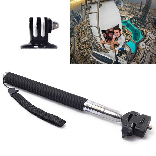 for gopro hero 4 3 3 2 extension selfie stick monopod tripod mount accessory us97. Black Bedroom Furniture Sets. Home Design Ideas