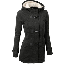 Palto 2016 Winter Jacket Women Down Coats Wool Blends Slim Hooded Casaco Feminino Long Grey Coat Poncho Outerwear 13