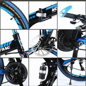 """Image 3 - זאב של פאנג אופניים מתקפל אופני כביש 21 מהירות 26 """"אינץ אופני הרי מותג אופניים קדמי ואחורי מכאני דיסק בלם אופניים"""