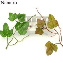 Plastic Branch Foliage-Craft Fake-Flowers Leaves-Shaped Artificial-Leaf Silk Wedding-Deocation