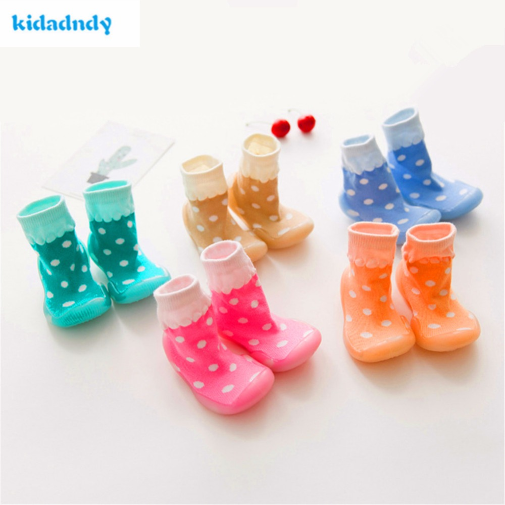 KiDaDndy Newborn Spring Infant Shoes Baby Girl Socks Anti Slip Baby Boy Shoes With Rubber Soles First Walkers LMY010