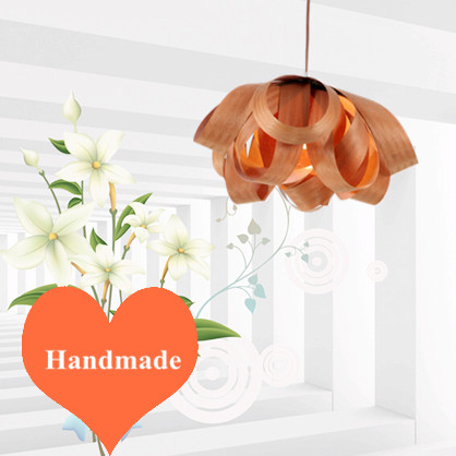 Modern rural vintage floral Ply-Wood chips Chandelier Handmade E27 LED lamp indoor lamp for living room&stairs&porch&cafe BT135