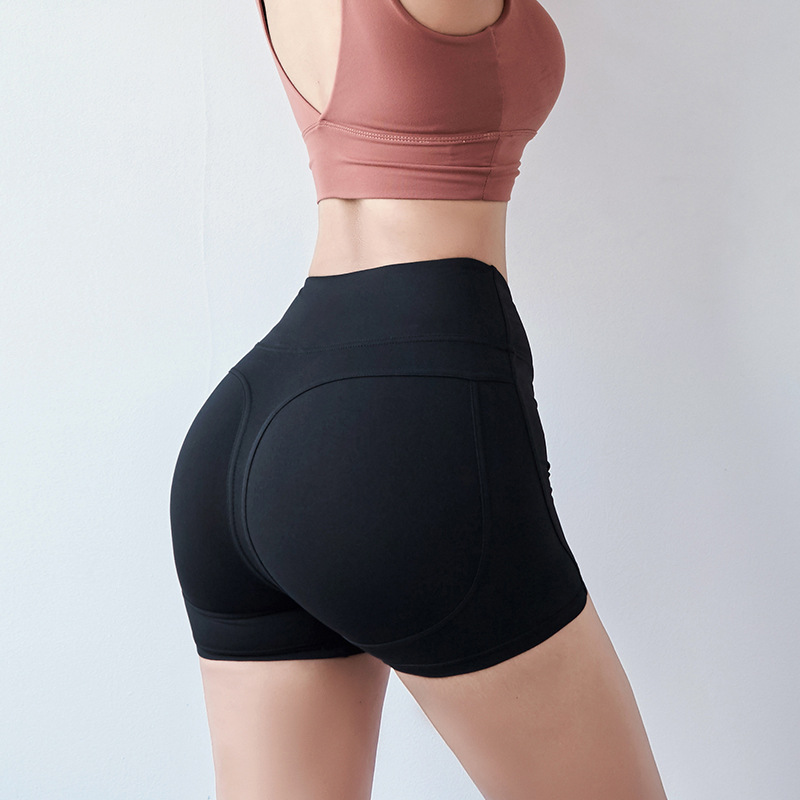 Women 39 s Sports Shorts Yoga Fitness Running Leggings Bikers With High Waists Workout Athletic Outfit Hip Up Slim Stretch Tights in Yoga Shorts from Sports amp Entertainment