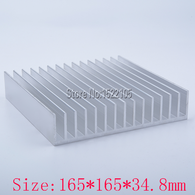 Heatsink 165x165x34.8mm industrial Aluminum heatsink heat sink high power radiator for cooling 1 pcs aluminum radiator heat sink heatsink 60mm x 60mm x 10mm black