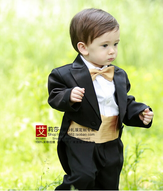 New Toddler Baby Boys Baptism Christening Gown Black Tuxedo Formal Birthday Party Wedding Dress For 1 2 Years Old In Clothing Sets From Mother
