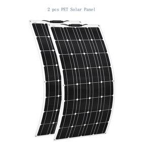 Image 3 - Przenośny elastyczny Panel słoneczny 16V 100 W 18v płyta monokrystaliczna wydajność PV 12V 100 watt chiny fotowoltaika jacht Rv