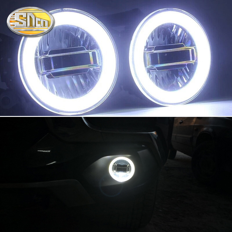 3 IN 1 Functions Auto LED Angel Eyes Daytime Running Light Car Projector Fog Lamp For
