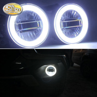 3 IN 1 Functions Auto LED Angel Eyes Daytime Running Light Car Projector Fog Lamp For Mitsubishi Montero Pajero Sport 2013 2019