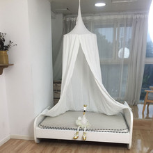 Hanging Baby Bed Canopy Cotton Mosquito Net Dome Curtain Tent Baby Crib Netting Round Hung Kids Canopy Tent Children Room Decor купить недорого в Москве