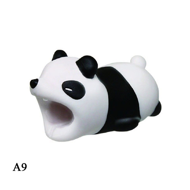Dropshipping Cable Bite Cute Animal Cable Protector Cord Wire Mini Silicone Cover Charging Cable Winder For Iphone Charger Cable
