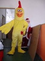 Big Yellow Chicken Adult Size Mascot Costume Halloween Christmas Mascot Costume Free Shipping