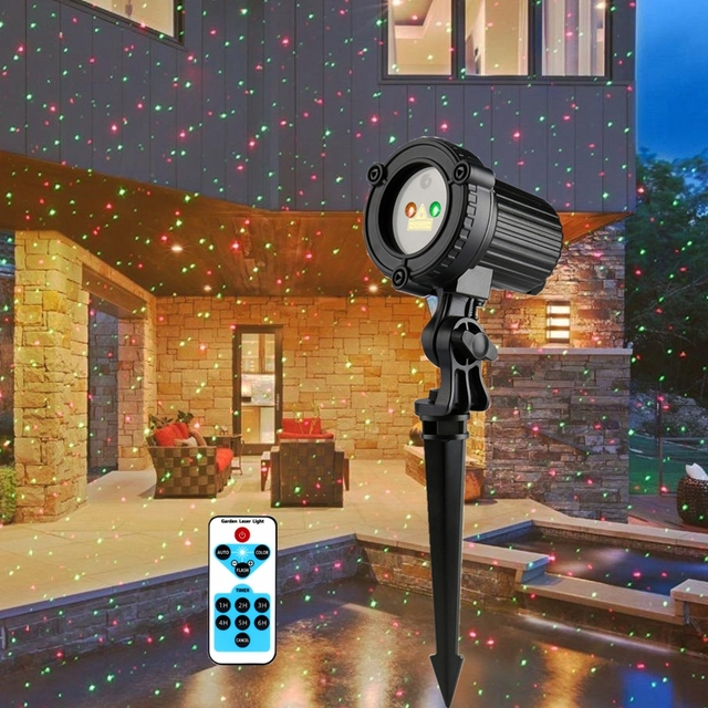 Holigoo Christmas Laser Spotlight Light Premium Outdoor Garden ...