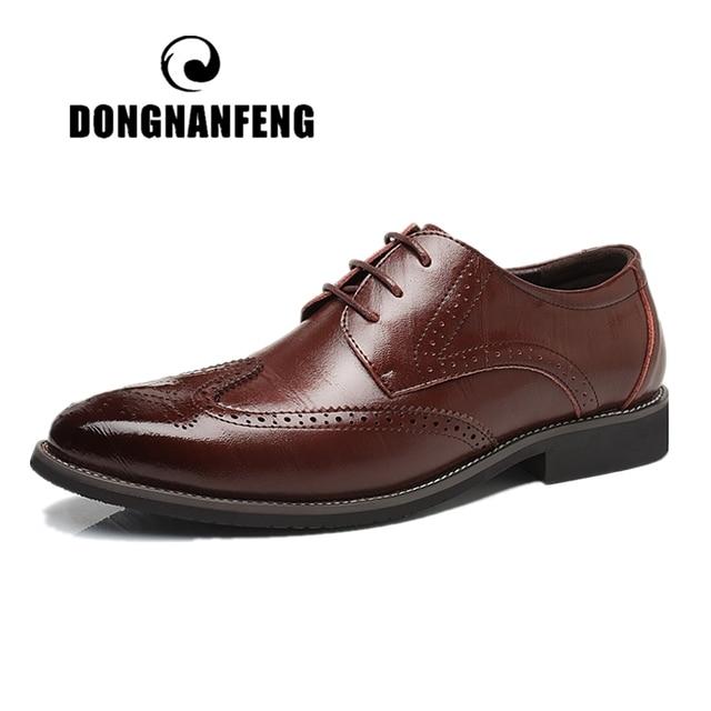 DONGNANFENG Người Đàn Ông của Nam Bò Giản Dị Chính Hãng Da Giày Oxford Người Anh Giày Đi Núi Kinh Doanh Ren Lên Kích Thước Lớn 46 47 48 MHC-7196